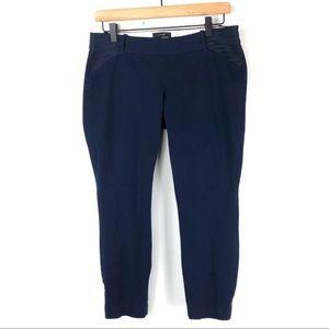 J Crew Maternity Minnie Pants Navy Blue Size 6